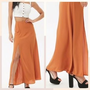 ❤️NWT Forever21 Chiffon Maxi Skirt L or M